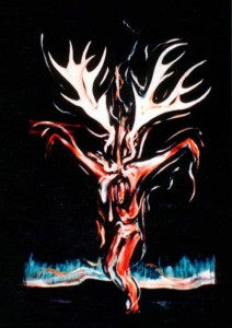 78. [23] Crucifix with Antlers Oil on Panel 5.5' x 3' 1977-1987