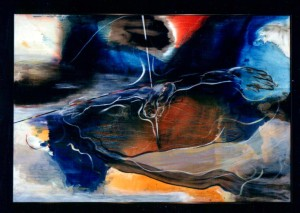 Cosmic Cruciform Oil on Panel 5.5' x 3' 1983